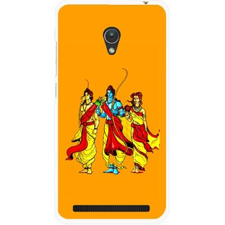 Snooky Printed God Rama Mobile Back Cover For Asus Zenfone 5 - Multicolour