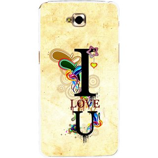 Snooky Printed Love You Mobile Back Cover For Lg G Pro Lite - Yellow