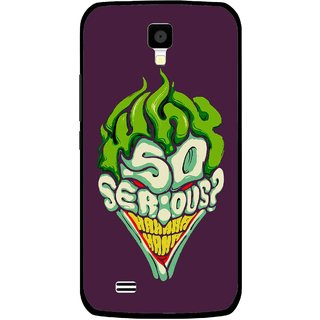 Snooky Printed Serious Mobile Back Cover For Gionee Pioneer P2S - Multicolour