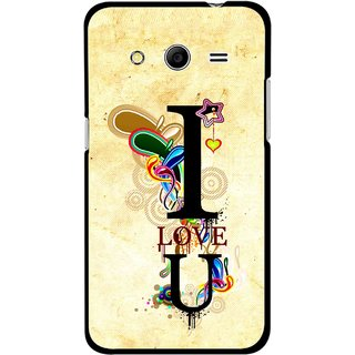 Snooky Printed Love You Mobile Back Cover For Samsung Galaxy G355 - Yellow