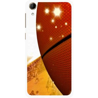Snooky Printed Basketball Club Mobile Back Cover For HTC Desire 728 - Multi