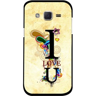 Snooky Printed Love You Mobile Back Cover For Samsung Galaxy j2 - Yellow