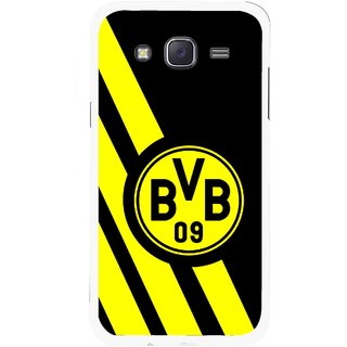 Snooky Printed Sports Logo Mobile Back Cover For Samsung Galaxy J5 - Black