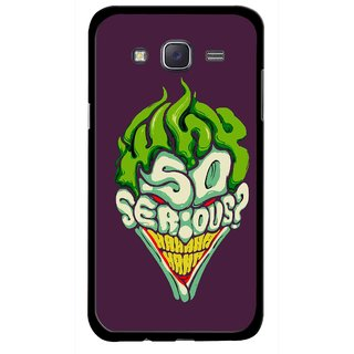 Snooky Printed Serious Mobile Back Cover For Samsung Galaxy J5 - Multicolour