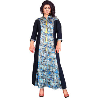 4a79545cb Buy Hi Fi Fashions black blue multi color Printed Stitched cotton ...
