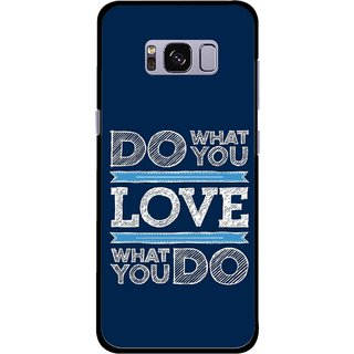 Snooky Printed Love Your Work Mobile Back Cover For Samsung Galaxy S8 - Multicolour