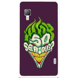 Snooky Printed Serious Mobile Back Cover For Lg Optimus L5II E455 - Multicolour