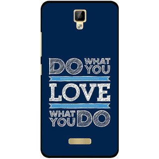Snooky Printed Love Your Work Mobile Back Cover For Gionee P7 - Multicolour