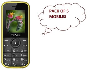 PEACE P3 (PACK OF 5 ASSORTED COLOR) DUAL SIM 1.8 INCH D
