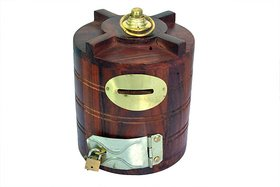 Triple S Handicrafts Wooden Water Tank Shaped coin bank