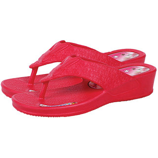 de04f2876f623a Buy Kaystar Women Girl s Stylish Red Color Casual Slippers