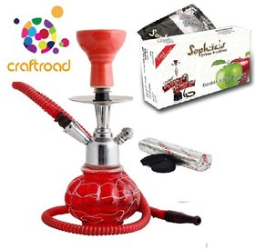 Craft road hookah with flavour and coal(10 Inches)