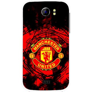 Snooky Printed Red United Mobile Back Cover For Micromax Canvas 2 A110 - Multicolour