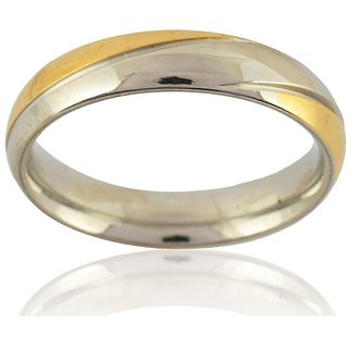 Sanaa Creations Mens Style Stainless Steel Silver Plated Ring for Men