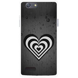 Snooky Printed Hypro Heart Mobile Back Cover For Oppo Neo 7 - Black