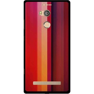 Snooky Printed Colorfull Stripes Mobile Back Cover For Gionee Elife E8 - Multicolour