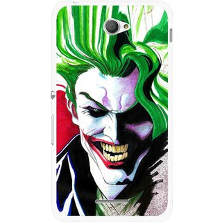 Snooky Printed Joker Mobile Back Cover For Sony Xperia E4 - Multi