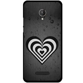 Snooky Printed Hypro Heart Mobile Back Cover For Micromax Canvas Spark Q380 - Black