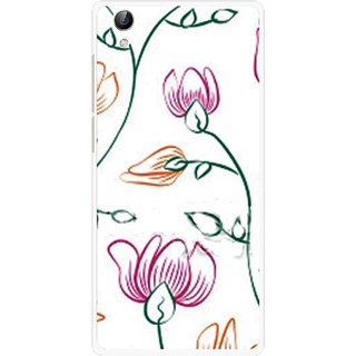Snooky Printed Flower Sketch Mobile Back Cover For Vivo Y51L - Multi