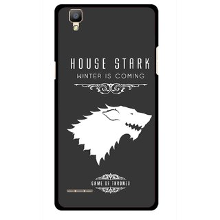 Snooky Printed House Stark Mobile Back Cover For Oppo F1 - Multi