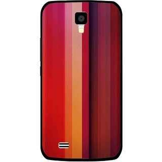 Snooky Printed Colorfull Stripes Mobile Back Cover For Gionee Pioneer P2S - Multicolour