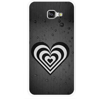 Snooky Printed Hypro Heart Mobile Back Cover For Samsung Galaxy A7 2016 - Black