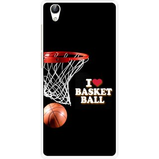 Snooky Printed Love Basket Ball Mobile Back Cover For Vivo Y51L - Multi