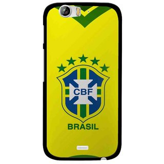 Snooky Printed Brasil Mobile Back Cover For Micromax Canvas Turbo A250 - Multi