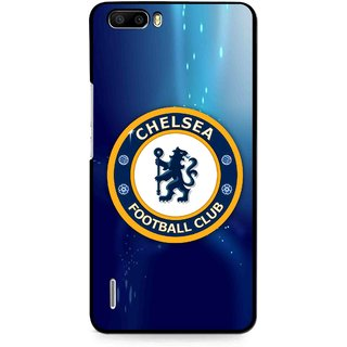 Snooky Printed Football Club Mobile Back Cover For Huawei Honor 6 Plus - Multi