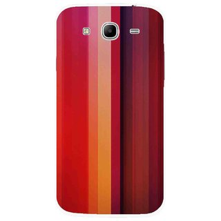 Snooky Printed Colorfull Stripes Mobile Back Cover For Samsung Galaxy Mega 5.8 - Multicolour