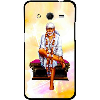 Snooky Printed Sai Baba Mobile Back Cover For Samsung Galaxy G355 - Yellow
