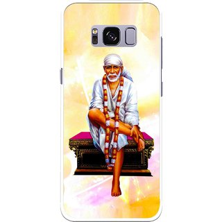 Snooky Printed Sai Baba Mobile Back Cover For Samsung Galaxy S8 - Yellow
