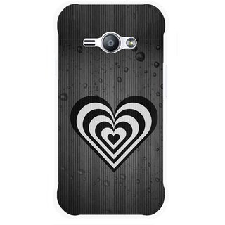 Snooky Printed Hypro Heart Mobile Back Cover For Samsung Galaxy Ace J1 - Black