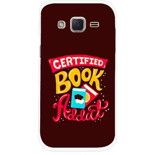 Snooky Printed Reads Books Mobile Back Cover For Samsung Galaxy j2 - Multicolour