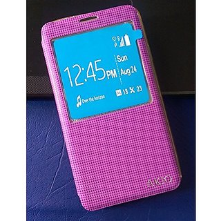 Window screen flip flap Cover case PU Leather Case For Samsung Galaxy Note 3 SM- N900 N9002 N9005 - Purple