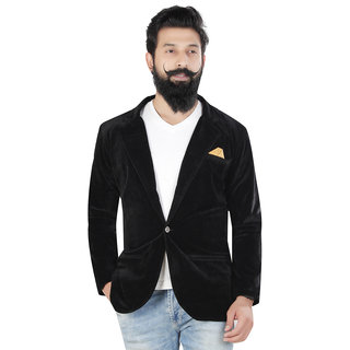 Kandy casual solid velvet 500  black for mens