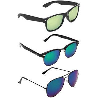 Zyaden Combo of 3 Wayfarer Sunglasses