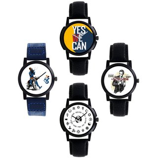 SP Combo Of 4 Analog Watch For Mens And Boys