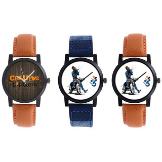 SP Combo Of 3 Analog Watch For Mens And Boys