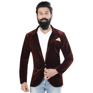 Kandy casual velevt brown 500 blazer for mens