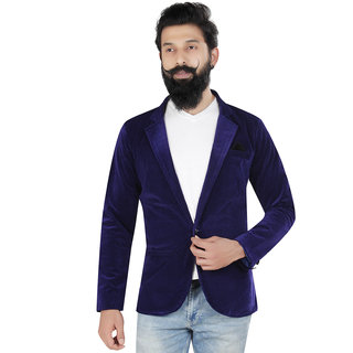Kandy casual velvet navyblue 500 blazer for mens