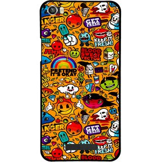 Snooky Printed Freaky Print Mobile Back Cover For Lava Iris X8 - Multi