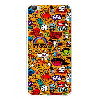Snooky Printed Freaky Print Mobile Back Cover For Vivo Y55 - Multi