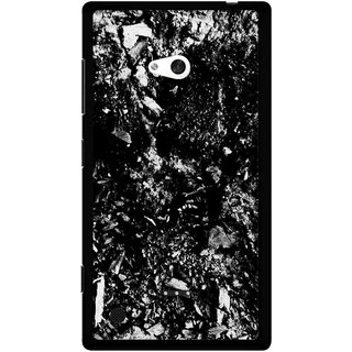 Snooky Printed Rocky Mobile Back Cover For Nokia Lumia 720 - Black