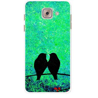 Snooky Printed Love Birds Mobile Back Cover For Samsung Galaxy J7 Max - Multicolour