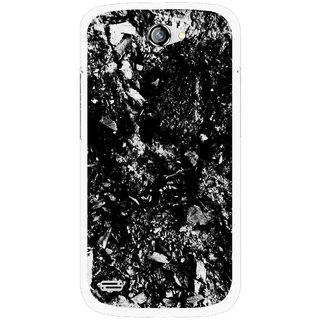 Snooky Printed Rocky Mobile Back Cover For Gionee Pioneer P3 - Black