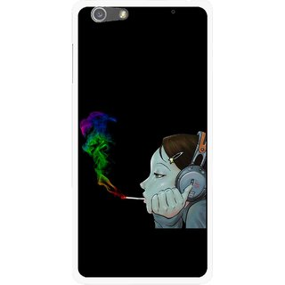 Snooky Printed Color Of Smoke Mobile Back Cover For Oppo R1 - Multi