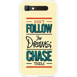 Snooky Printed Chase The Dreams Mobile Back Cover For Intex Aqua Y2 Pro - Yellow