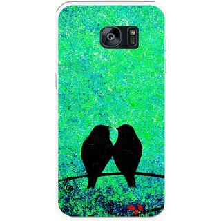 Snooky Printed Love Birds Mobile Back Cover For Samsung Galaxy S7 - Multicolour