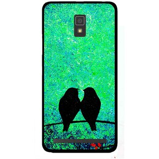 Snooky Printed Love Birds Mobile Back Cover For Lenovo A6600 - Multicolour